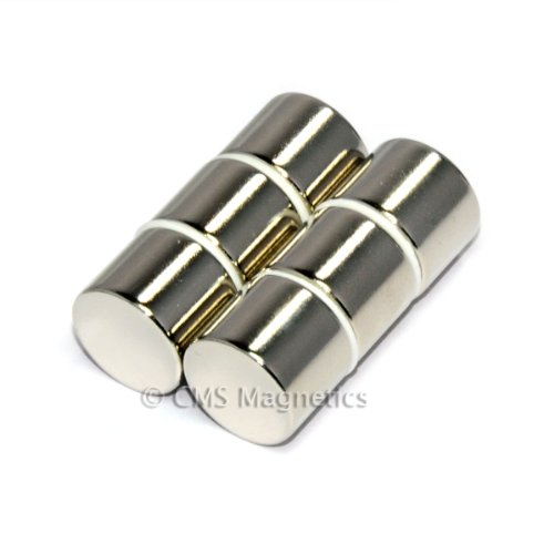 "Cms Magnetics® N45 Neodymium Magnet Dia 5/8X1/2"" Ndfeb Rare Earth Disc Magnets, 6-Count front-135960"