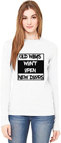 New Doors T-Shirt da Donna a Maniche Lunghe Long-Sleeve T-shirt For Women| 100% Premium Cotton| DTG Printing| Medium