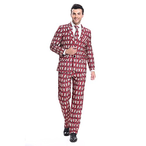 YOU LOOK UGLY TODAY Men's mens Funny Party Suit Christmas Costumes POLE DANCE SANTA-XX Large