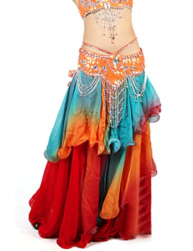 Belly Dance Colorful Maxi Skirt Halloween Dancing Costume