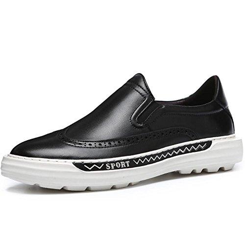 Inverno autunno tendenza vera pelle mocassini moda Classic pizzo-scarpe uomo , black , 38