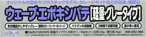 ウェーブ・エポキシパテ 軽量グレータイプ 【HTRC 3】