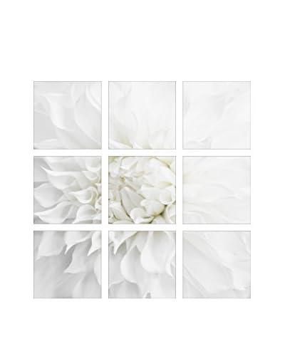 Art Addiction White Flower Close Up I Set of 9, Multi, 15.75 x 15.75