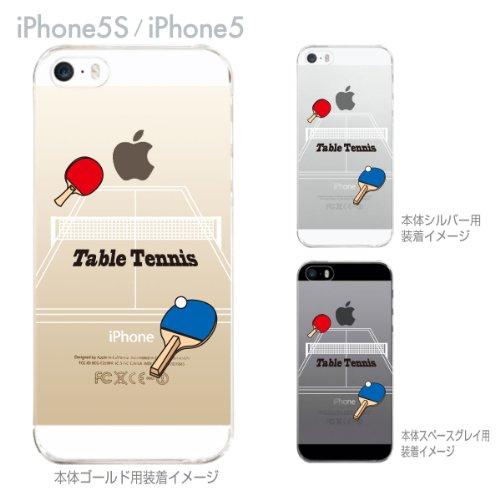 【iPhone5S】【iPhone5】【ケース カバー】【au】【Soft Bank】【スマホケース】【クリアケース】【Clear Arts】【卓球】 10-ip5-ca0064