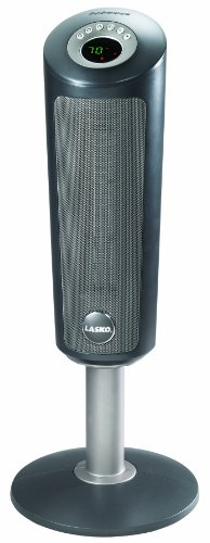 Lasko 6350 Digital Ceramic Pedestal Heater with Remote Control, 30-Inch