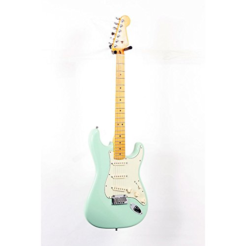 Fender American Deluxe Stratocaster V-Neck Electric Guitar Surf Green, Maple Fretboard 888365278506