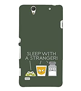 EPICCASE Sleep With a Stranger Mobile Back Case Cover For Sony Xperia C4 (Designer Case)