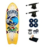 Riviera Skeletons Grateful Dead In The Tube Cruiser Longboard Skateboard Complete 28.5""