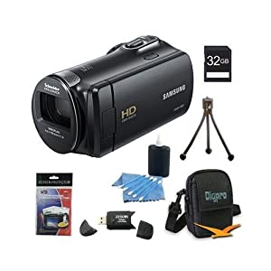 Samsung HMX-F90 Flash Memory HD Digital Video Camcorder 32gb Deluxe Bundle With 32GB card , tripod case and more .