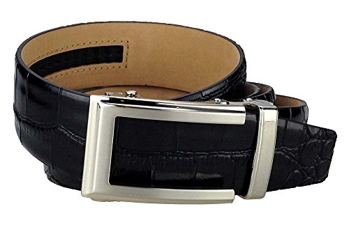 Nexbelt Classic Series - Reptile Belt (Black Alligator Emboss) (Alligator Belt Black compare prices)