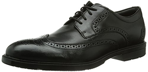 RockportCS WING TIP - Zapatos de Vestir Hombre, Black Lea, EU 42.5 (US 9)