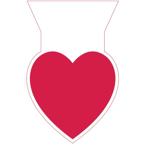 Cello Bags, Shaped, One Big Heart