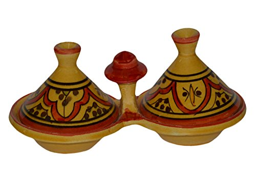 Moroccan Handmade Tagine Spice Holder Seasoning Container Medium