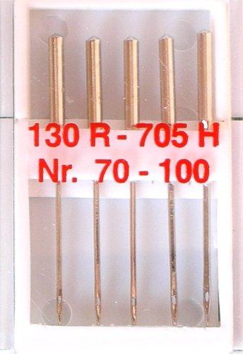5 Nähmaschinennadeln Universal Nr.70-100 Flachkolben 130R/705H für Nähmaschine, 0033
