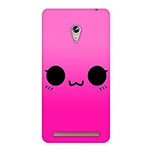 Premium Pink Smile Face Back Case Cover for Zenfone 6