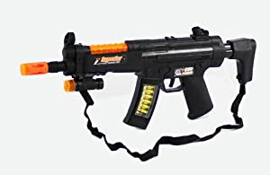 Toy Gun For Kids Mini MP5 16.5 Inches Long Battery operated Firing Sounds, and Lights Electric Toy Gun