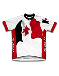 Udmurtia Flag Short Sleeve Cycling Jersey for Women