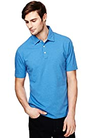 "2"" Longer Marl Polo Shirt with Stay New™"