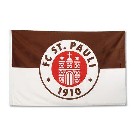 St Pauli 30 x 40 Bandiera, (marrone), Taglia unica
