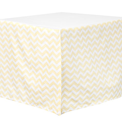 Carter's Zig Zag Crib Dust Ruffle, Yellow - 1