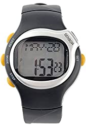 Kalevel Sports Pulse Rate Monitor Watch Calorie Counter Digital Wrist Watch Waterproof with Alarm Calendar Stopwatch (Silver)