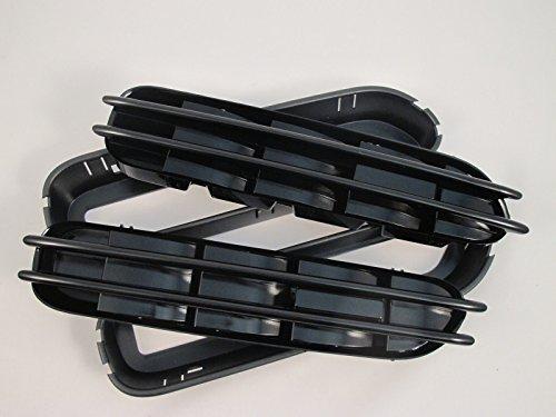 (2) Ersatz Schwarz glänzend Seite Grill Gitter Fender Belüftungsöffnungen für BMW E60E61E39
