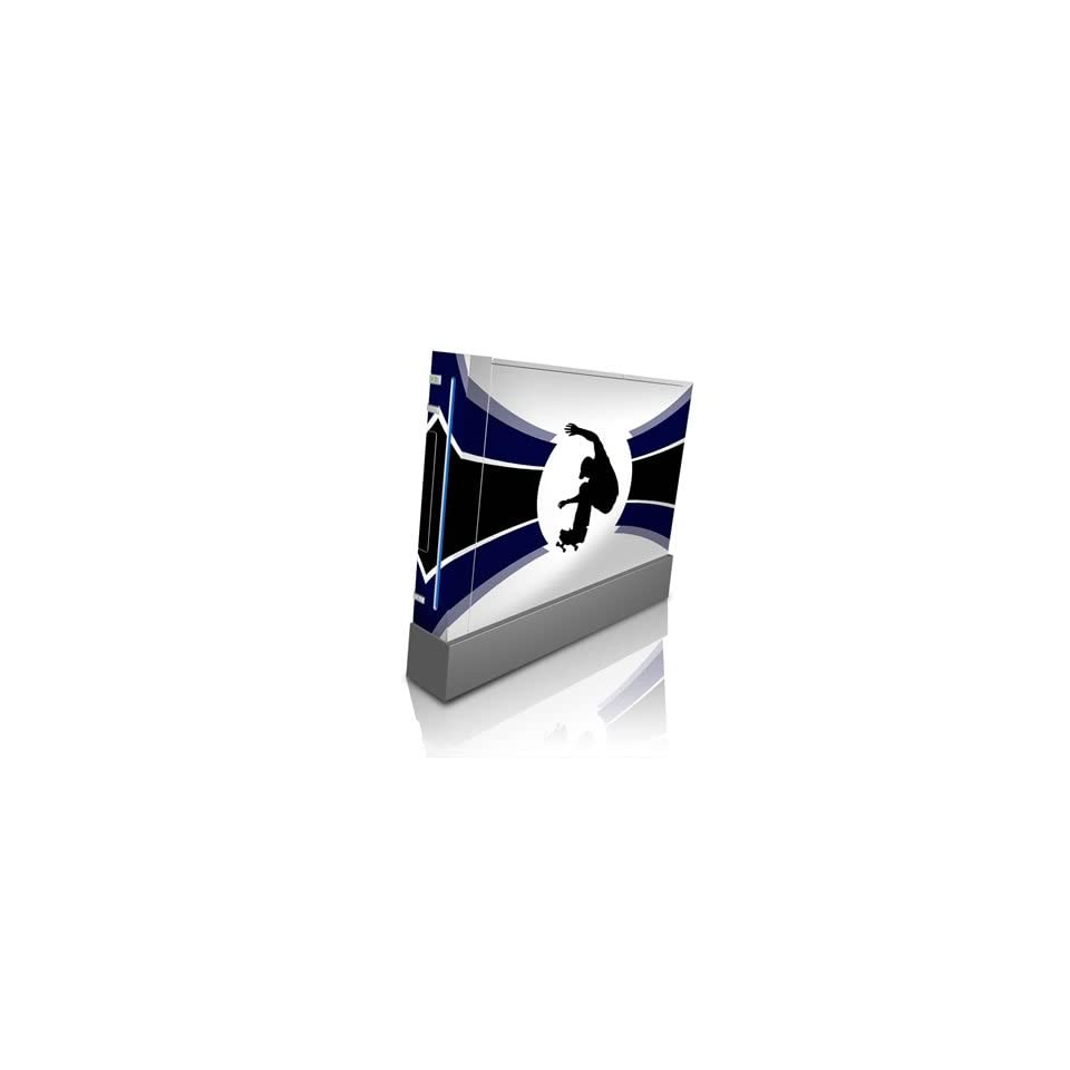 Ollie Blue Design Skin Decal Sticker for Nintendo Wii Body Console