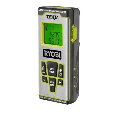 Laser Distance Measure Ryobi Tek4 Professional Accurate Lithium-ion Model
