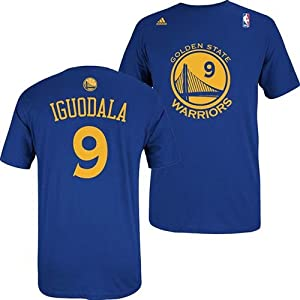 Golden State Warriors Adidas NBA Andre Iguodala #9 Name & Number T-Shirt L by adidas
