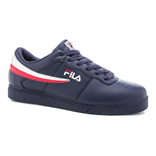Fila Men's Vulc 13 Low Athletic Sneakers, Navy Synthetic, 9 M