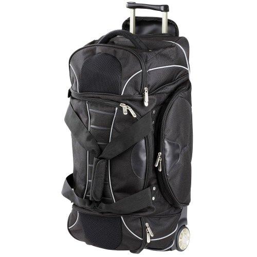 Dermata Reisetasche Rollenreisetasche 67 cm (schwarz)