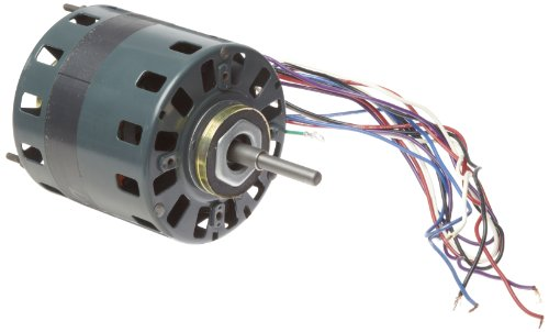 """Fasco D491 5"""" Frame Open Ventilation Shaded Pole Refrigeration Fan Motor With Sleeve Bearing, 1/10 Hp, 1050Rpm, 115/208-230V, 60Hz, 5.0-2.5 Amps, Ccw Rotation"""