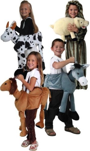 48028_48027_48026_48035 Plush Camel Donkey Cow Sheep Puppet Nativity Costumes