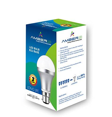 Amber-5W-B22-Plastic-LED-Bulb