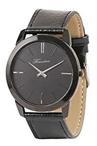 Timebre Men Slim Carbon Black Analog Watch