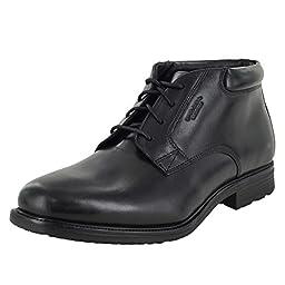 Rockport Men\'s Essential Details Water Proof Chukka Boot,Black,8.5 M US