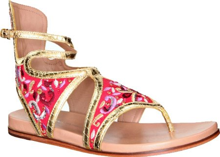 lisa for Donald J Pliner Women's Gissa-MSIE Sandals,Gold/Fuchsia Metallic Snake,8 M US