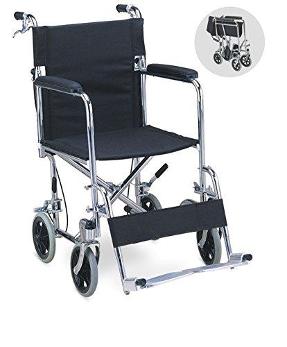 Chaithanya Orthopaedics FC Premium Lightweight Steel Transport Wheelchair + Walking Stick