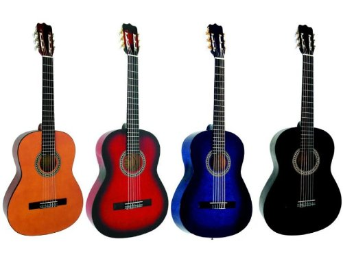 guitares classiques guitare classique 4 4 adulte 4 coloris au choix neuve garantie noire. Black Bedroom Furniture Sets. Home Design Ideas