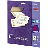 Avery Ivory Matte Business Cards, 2 x 3.5 Inches, 100 Cards (27883) by Avery