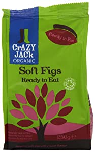 Crazy Jack Organic Ready to Eat Figs 250 g (Pack of 6)
