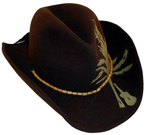 Kenny Chesney Blue Chair Bay 100% Wool Felt Hat - Import It All 5f678c227199