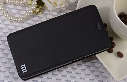 Original Flip Case for Xiaomi MI4 Design 2 (Black) Suits 16GB and 64GB + Free Clear Screen Guard_By Skylet TM