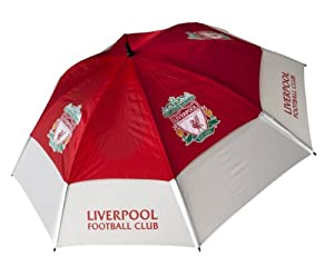 Liverpool Fc Tour Vent Golf Umbrella - Redwhite by Liverpool FC