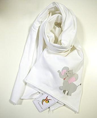 Baby-, Kids scarf with elephant print - organic cotton, fairtrade - Preciosa