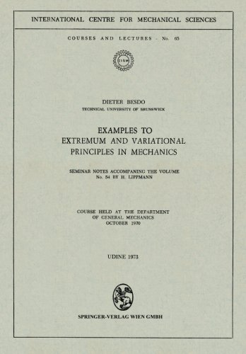 Examples to Extremum and Variational Principles in Mechanics: Seminar Notes Accompaning the Volume No. 54 by H. Lippmann
