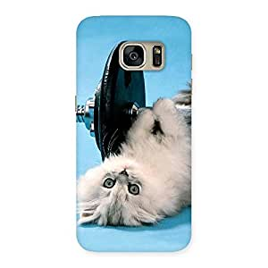 Special Fit Cat Multicolor Back Case Cover for Galaxy S7