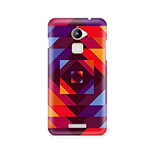 Motivatebox- Concentric Squares Coolpad Note 3 Lite cover -Matte Polycarbonate 3D Hard case Mobile Cell Phone Protective BACK CASE COVER. Hard Shockproof Scratch-