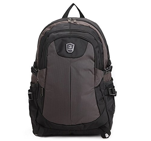 "Ob-Osi Canvas Laptop Computer Backpack Scan Smart Up To 15"" Notebook Backpack Brown front-234191"