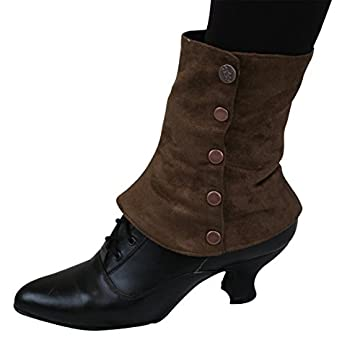Ladies Victorian Boots & Shoes Suede Spats $37.95 AT vintagedancer.com